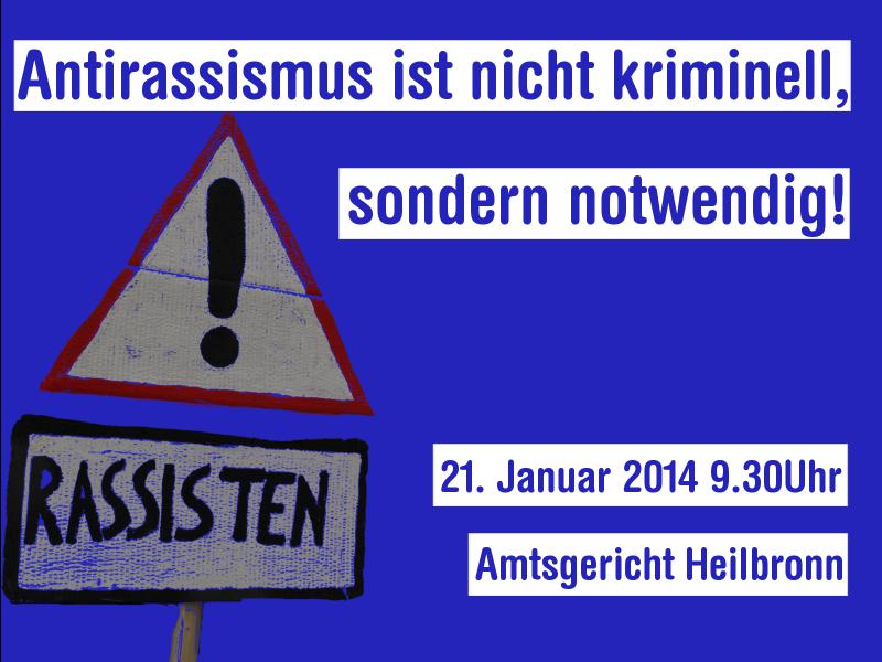 Antirassismus ist legitim!